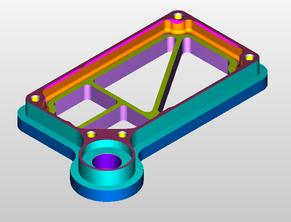 CAD-CAM simulatie van een freesonderdeel