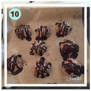 Schritt 10 für den oberen Teil der Schokoladeneis Badebomben