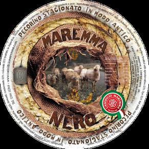maremma pecora formaggio pecorino caseificio toscano toscana spadi follonica etichetta italiano origine latte italia pecorino stagionato nero esterno