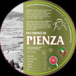 pienza maremma pecora formaggio pecorino caseificio toscano toscana spadi follonica etichetta italiano origine latte italia stagionato grande