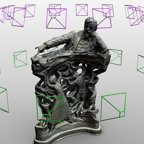Process sculpture scan with photogrammetry