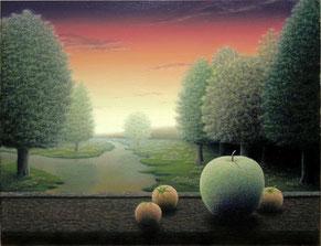「裾野の眺望」油彩・キャンバス F6
