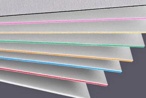 Designvisitenkarten auf exklusiven, farbigen 600g Karton