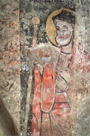 Avec la représentation peinte de saint Jacques le Majeur