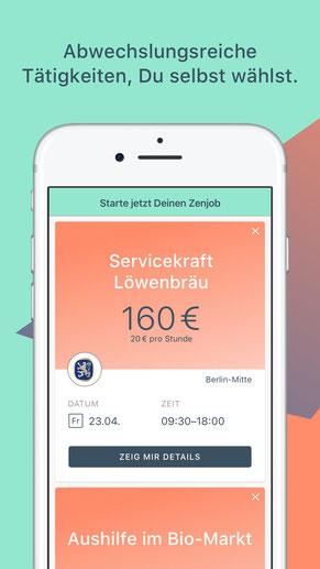 Die Zenjob-App für iOS