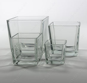Würfelvasen mieten, quadratische Vasen mieten