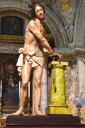 """Jesus Scourged at the Pillar"" by Pietru Pawl Azzopardi"