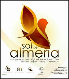 aviario miguel granada, campeonato ornitologico internacional com sol de almeria 2015