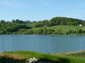 lago y pesca Cadillon (vic-bilh / madiran)