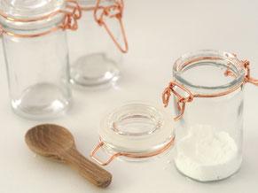 Zucker in Einmachgläser