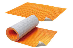 A Ditra Heat mat and a Ditra Heat roll