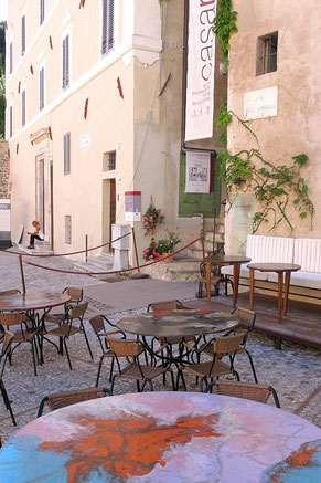 Casa Menotti, Spoleto. Particolare. Foto di Angelo Paionni