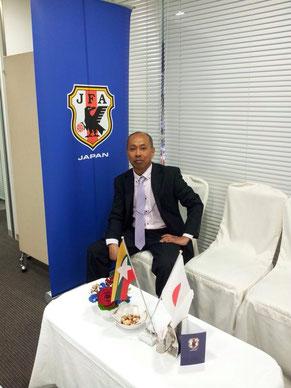 U-22サッカー日本代表対ミャンマー代表国際親善試合で通訳派遣(2015年3月千葉県にて)