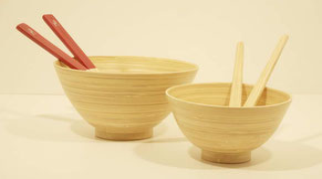 saladiers en bambou / gamme transparence Caneco