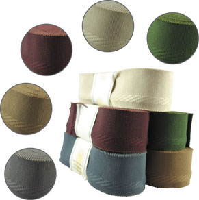 decorative ribbon no. 20, cotton with selvedge, width 9, colours: creme, bordeaux, beige, grey, green (while stocks last)