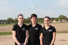 v.l. Sophie Hofmann, Heide Pozepnia, Chiara Congia