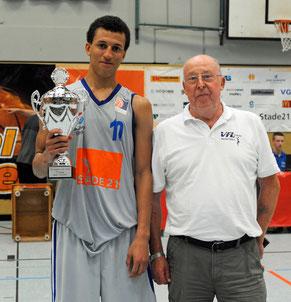 Mubarak Salami wurde zum besten Spieler des Turniers gewählt. Foto: Borchers