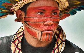 Fotografía ganadora en la anterior edición del concurso: el retrato de un indígena asurini do Tocantins de la Amazonia brasileña, de Giordano Cipriani. © Giordano Cipriani / Survival Internationa