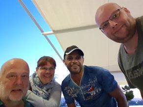 vlnr: Volker, Anja, Said & Thomas