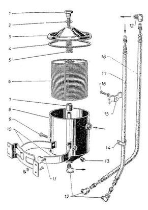 Nebenstromölfilter (Bild Nr. 009 Ersatzteilkatalog)