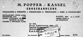Briefkopf der Firma Popper