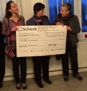 Sende der von der Bürgerinitiative Mörsbach und Förderverein Merschbacher Feierwehr e.V. an die Zweibrücker Tafel