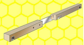 Diese abgebildete Bienenschleuse wird noch konstruktiv abgewandelt.