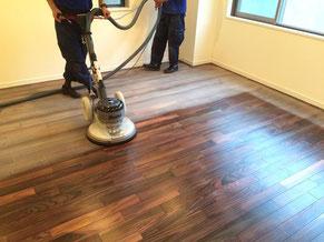 床のサンディング