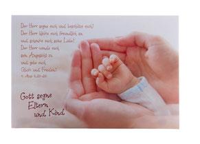 Karte zur Geburt Hand in Hand
