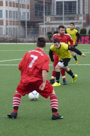 A-Jugend im Spiel gegen FC Karnap. - Foto: mal.