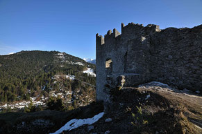 Burg Ehrenberg mit der Highline 179
