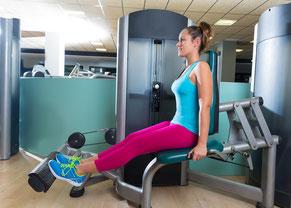 leg exercise calf machine