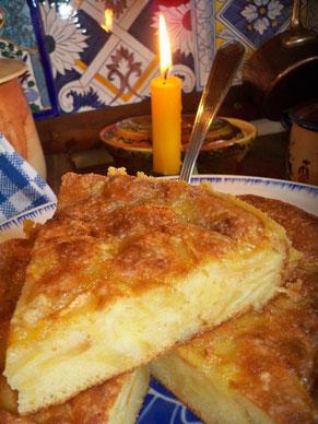 """Gâteau """"Tantine"""" pomme-poire à l'ancienne"""
