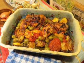Cuisses de Poulet Rôties aux olives et citron par la Mère Mitraille