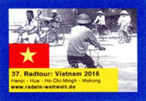 mein Postkarten-Aufkleber für Vietnam