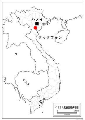 クックフォン国立公園の位置。