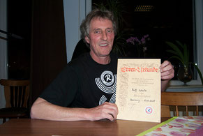 """Ralf """"Eder"""" Schulz - das RSC-Urgestein wurde mit der Ehrenmitgliedschaft ausgezeichnet. Fotos: Struve"""