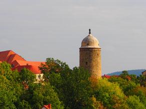 histoischer Eck-Turm der ehemaligen Stadtmauer