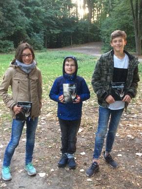 Die drei Gewinner des Fledermaus-Quiz