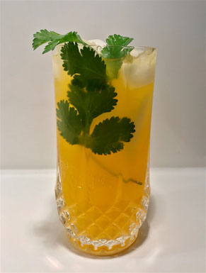 Cocktail Burning Thunder With Coriander