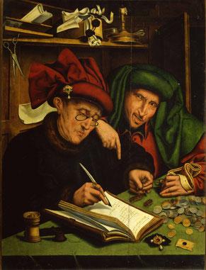 "Marinus van Reymerswaele, ""Gli usurai"" (1540)"