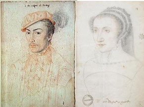 François de Vendôme & Jeanne de Madaillan, par François Clouet, Musée Condé du Château de Chantilly
