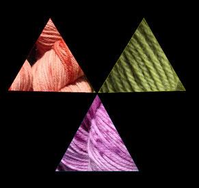 Boutique de laine, orange, vert, violet, mérinos, couleurs naturelles, teintures textiles