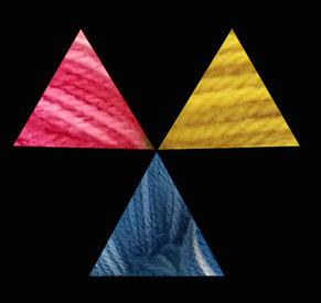 Les couleurs primaires en teinture naturelle de la laine