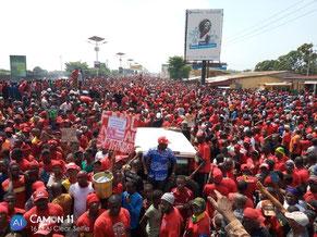 Demonstration gegen die dritte Amtsdauer des Präsidenten Alpha Condé