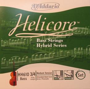 Cordes d'addario hélicore hybrid contrebasse