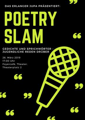 Das Einladungsplakat der Poetry-Slam-Veranstaltung