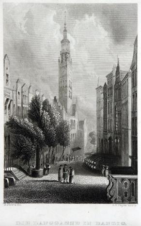 Danzig, Langgasse um 1830