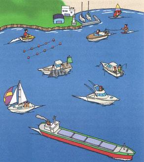 さまざまな水域利用者の存在
