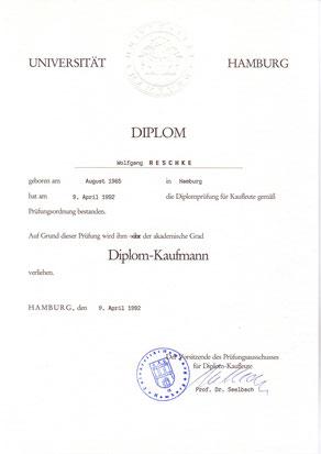 Diplom: Wolfgang C. Reschke